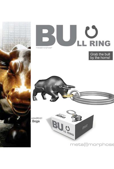Metalmorphose Bullring Boğa Anahtarlık Metalik Gri