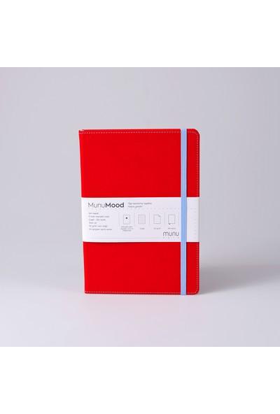 Munu Note Vegan Deri 224 Sayfa Çizgili A5 Defter 15 x 21 cm + Tasarım Rozet 3'lü