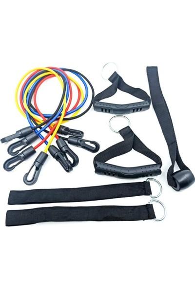 Dr. Cornel Power Band Set Direnç Lastiği Seti Kas Geliştirici Pilates Ipi
