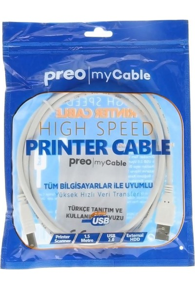 Preo My Cable MC14 Printer Kablosu