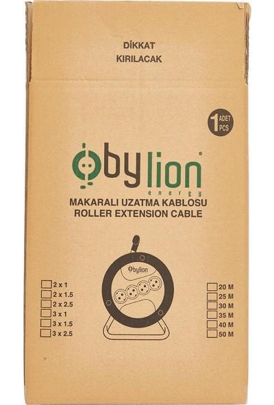Bylion 20 Metre 3 X 1,5 mm Seyyar Makaralı Uzatma Kablosu