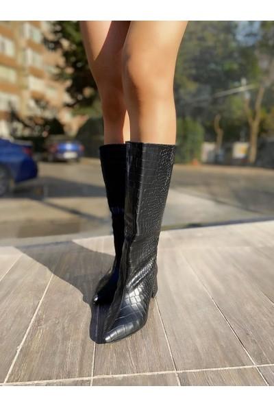 Mylady Kroko Baskı Kadın Çizme