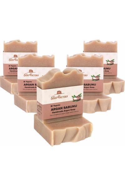 The Soap Factory El Yapımı Bitkisel Argan Sabunu 5 x 100 gr (Toplam 5 Adet)