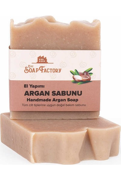 The Soap Factory El Yapımı Bitkisel Argan Sabunu 3 x 100 gr (Toplam 3 Adet)