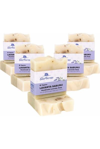 The Soap Factory El Yapımı Bitkisel Lavanta Sabunu 5 x 100 gr (Toplam 5 Adet)