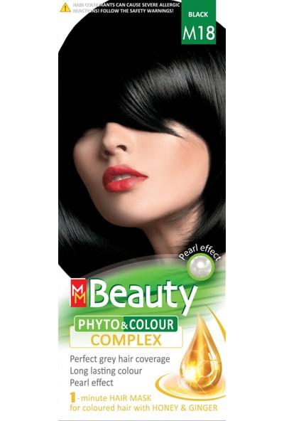 Mm Beauty Bitkisel Saç Boyası M18 Siyah