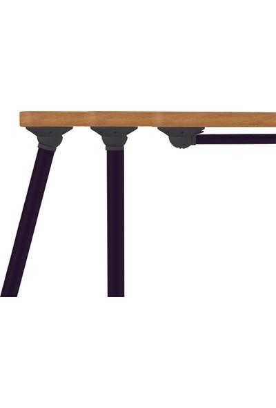 Tempo Katlanır Masa Ayağı 15° Dışa Açılmalı Siyah