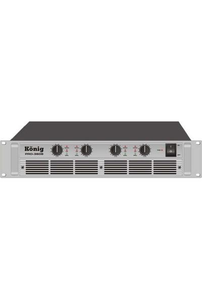 König PRO-3608/S 4 Kanal 4 Ohm 4X600W Amfi