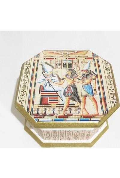 Kuzey Caddesi Antik Mısır Horus Kişiye Özel Köstekli Cep Saati 513