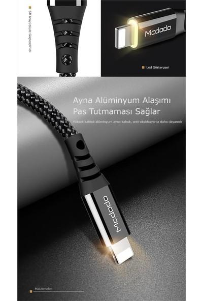 Mcdodo CA-5091 iPhone Lightning Şarj Kablosu 1.2 Metre - Siyah