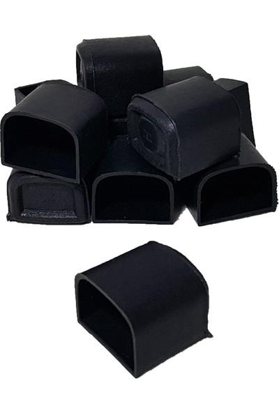 Yıldırım Sandalye Ayağı Siyah D Model Masa Ayağı Plastik Tabure Ayağı