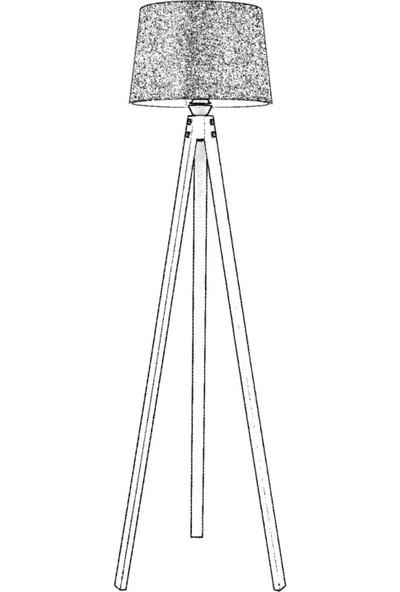 AVONNI LM-65214-1E Eskitme Kaplama Lambader E27 Ahşap 40cm