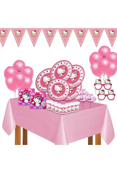 Bay Cimri Hello Kitty Doğum Günü Parti Malzemeleri Süsleri Seti 16 Kişilik