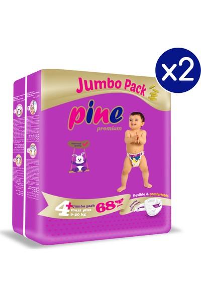 Pine Maxi Plus (9-20 Kg) 136'LI Bebek Bezi