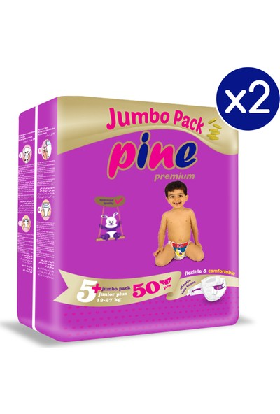 Pine Junior Plus (13-27 Kg) 100'LÜ Bebek Bezi