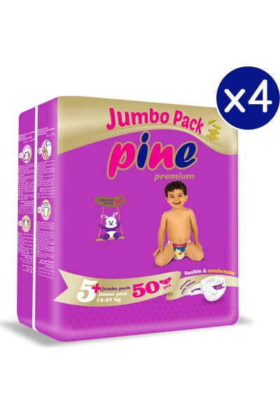 Pine Junior Plus (13-27 Kg) 200'LÜ Bebek Bezi