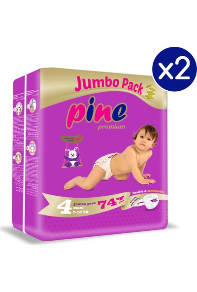 Pine Maxi (7-18 Kg) 148'LI Bebek Bezi