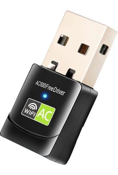 Schulzz 600 Mbps USB Mini Wifi Adaptörü RTL811 5ghz Kablosuz Alıcı
