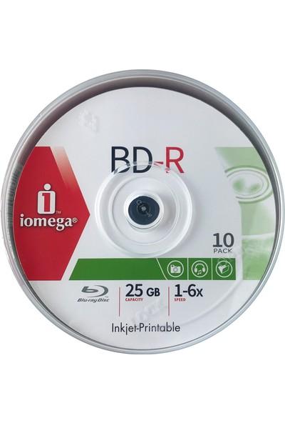 Iomega Blu-Ray Bd-R Prıntable 25GB 10'lu Cakebox Bluray Bd-R