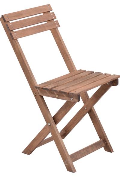 Özdağ Mobilya Gürgen Katlanır Meşe Renk Piknik Sandalyesi