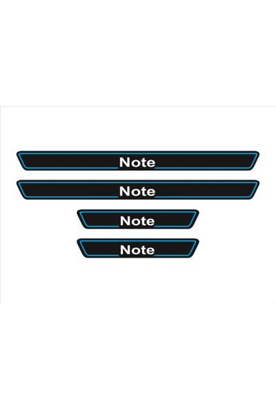 Ömr Dizayn Hediye Note 4'lü Kapı Eşiği Oto Aksesuar Mavi