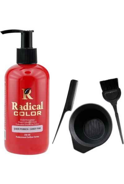 Radical Color Saç Boyası Şeker Pembesi 250 ml ve Saç Boya Kabı Seti