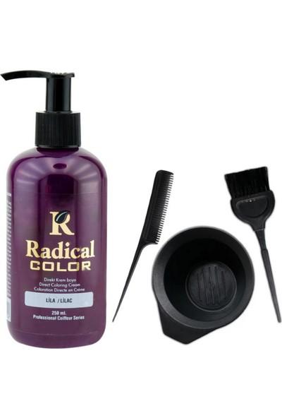 Radical Color Saç Boyası Lila 250 ml ve Saç Boya Kabı Seti