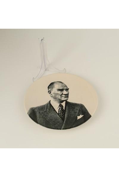 Palto Tasarım Atatürk Dekoratif Tabak