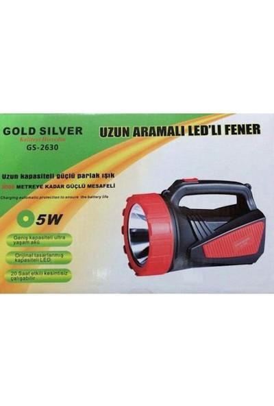 Gold Silver GS-2630 5W Şarjli El Feneri Işıldak