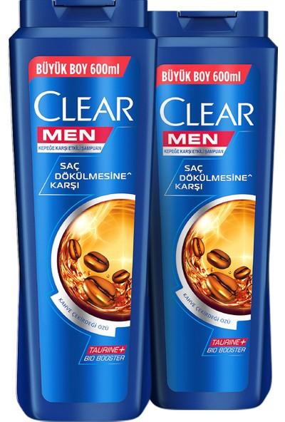 Clear Men Saç Dökülmesine Karşı Etkin Şampuan 600 ml x 2 Adet