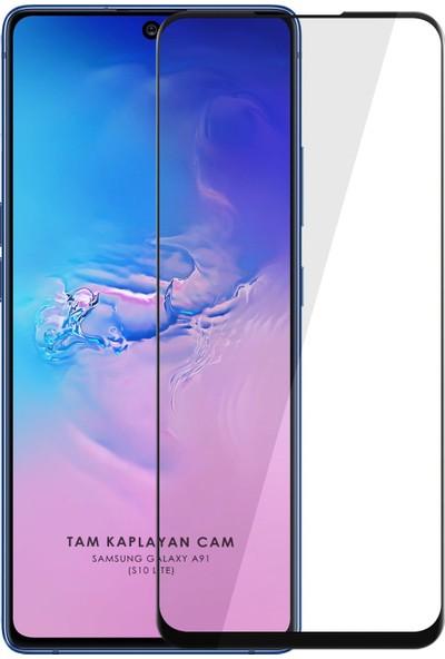 Samsung Galaxy A91 5d Mat Seramik Tam Kaplayan Ekran Koruyucu Cam
