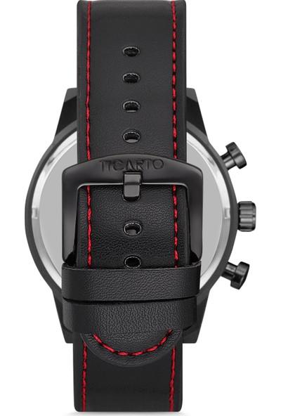 Ticarto T-3030 Gerçek Deri Kordon Çelik Kasa Erkek Kol Saati