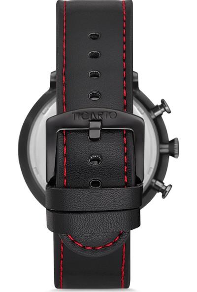 Ticarto T-3031A Gerçek Deri Kordon Çelik Kasa Erkek Kol Saati
