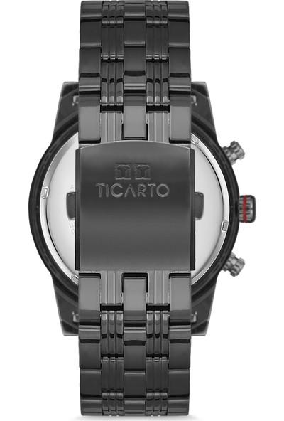 Ticarto T-6152A Su Geçirmez Çelik Kasa Erkek Kol Saati