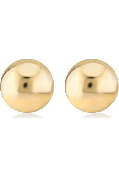 Gelin Pırlanta 14 Ayar Altın Top Küpe - 4 mm