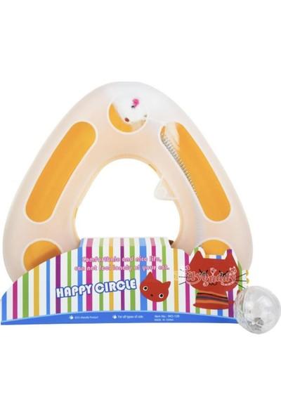 Happy Circle Kedi Fare Oyunu Toplu Spiralli 25 cm Sarı