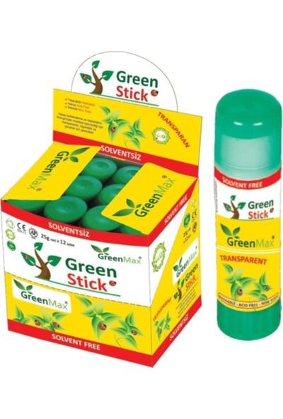 Green Max Stick Transparan Yapıştırıcı 25 gr 12'li
