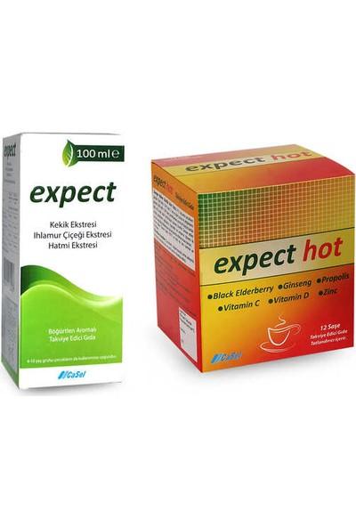 Expect Şurup 100 ml & Expect Hot 12 Saşe