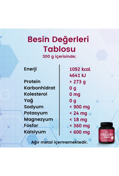 HudCollagen Plus Powder 300 G - Toz Kolajen 3 Adet
