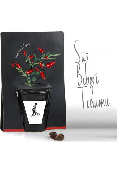 Hediyedukkani Atatürk Tasarımlı Süs Biberi Dikim Kiti