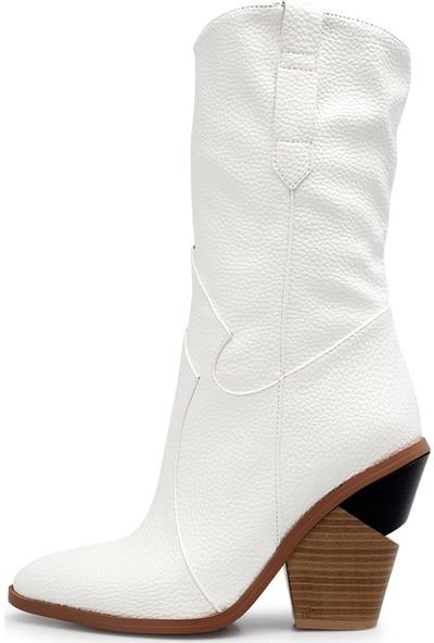 Guja Deri Görünümlü Kovboy Çizme Kadın Çizme 38920K1814