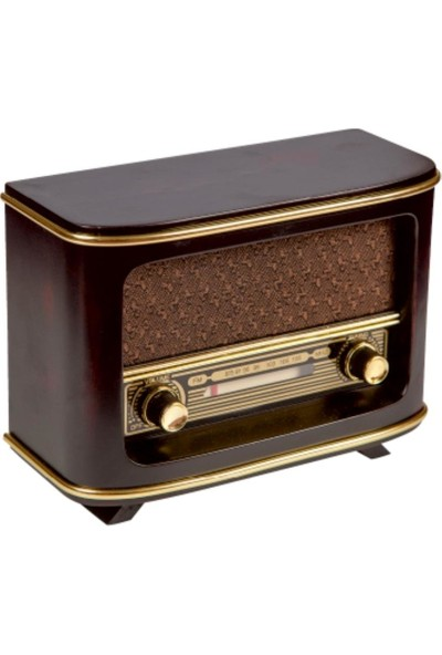 Evim Tatlı Evim Emirgan Pilli ve Şarjlı Nostaljik Ahşap Radyo
