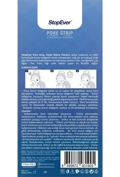 Stopever Pore Strip Siyah Nokta Plasteri x 2
