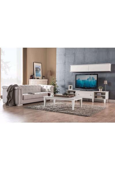 Kelebek Mobilya 41280-Cara Tv Üst Modül (Beyaz)