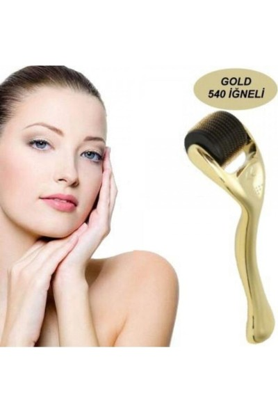Lusso Cosmetic Gold 540 Titanyum Iğneli 1mm Dermaroller BYNLK100010057