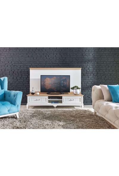 Kelebek Mobilya 28080-ANGELİC Tv Alt Ünitesi Beyaz