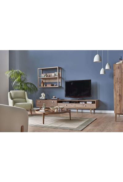 Kelebek Mobilya 47080-MONEMA Tv Alt Ünitesi