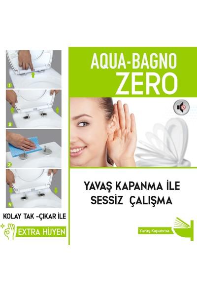 Aqua Bagno Zero Yavaş Kapanan Klozet Kapağı - Duroplast