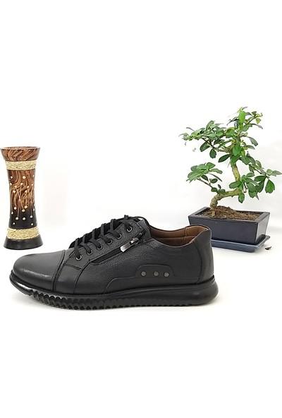 Hakiki Deri Fermuarlı Günlük Erkek Ayakkabı
