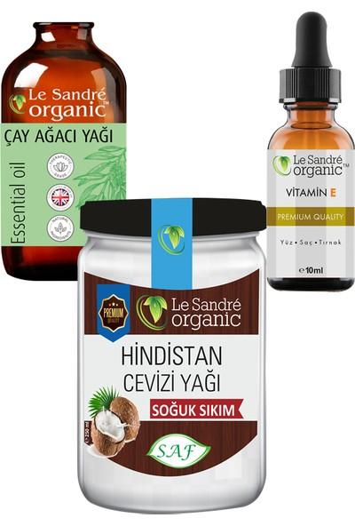 Le Sandre Organics Hindistan Cevizi Yağı ve Çay Ağacı Yağı ve E Vitamini 270 ml